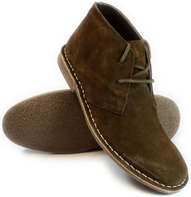 04d85d66831 Details about Red Tape - Gobi Suede Mens Grey Brown Tan Navy Desert Boots