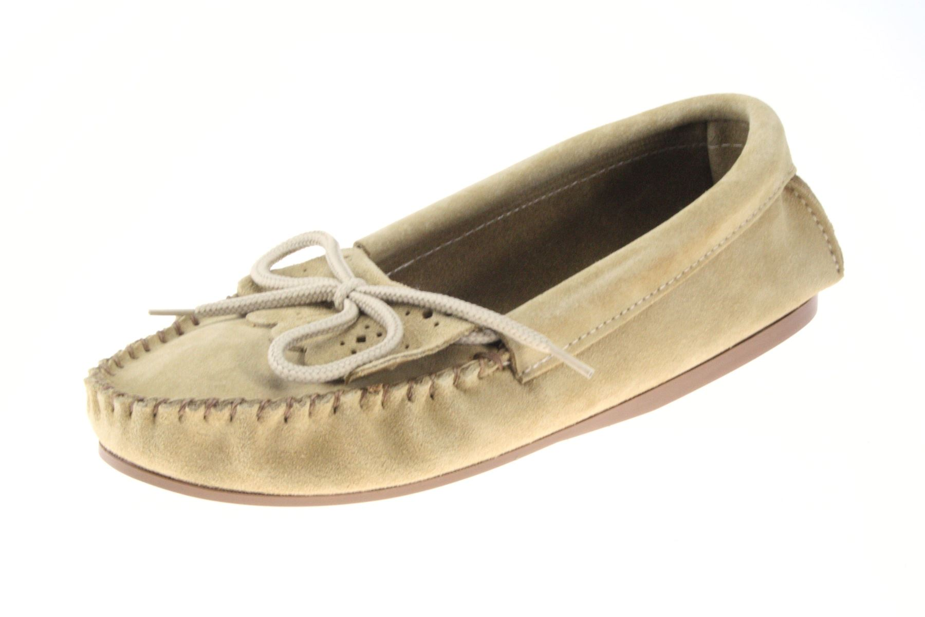 a81ca091e93 Details about Coopers Beige Slip On Suede Leather Ladies Moccasins Slippers  Handmade England