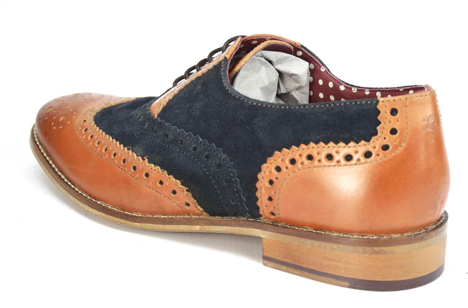 2ca17efaae66b Details about London Brogues Mens Leather Lace Up Wingtip Formal GATSBY  Evening Brogue Shoes