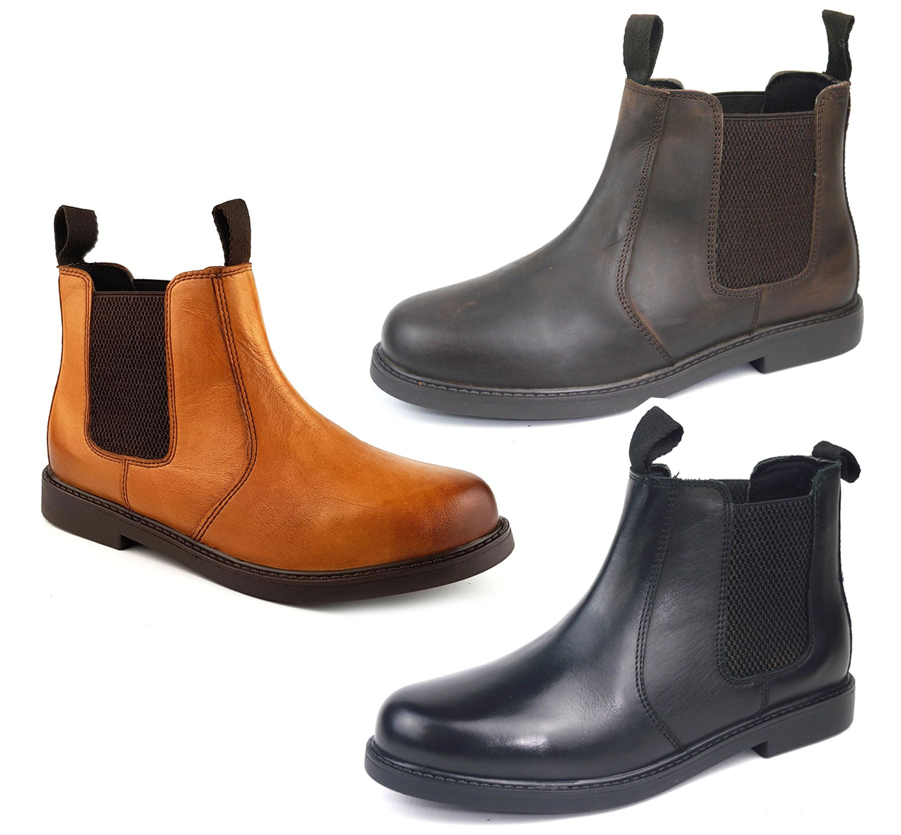 Frank James Cheltenham Boys Girls Brogue Chelsea Leather Jodphur Boots