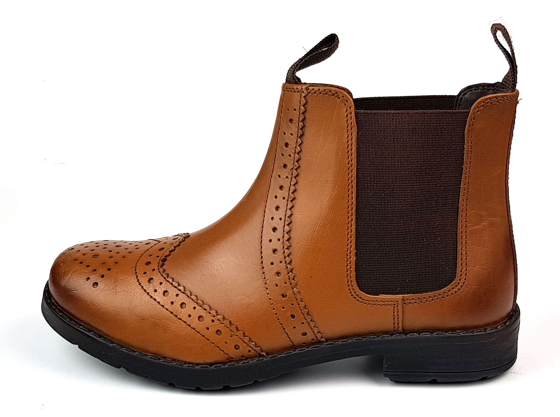 e047c7bbf Nueva Tierra jinete marrón castaño acento de cuero que detalla las botas de  los concesionarios. Fácil de poner y quitar. Estas botas son muy de moda y  se ...