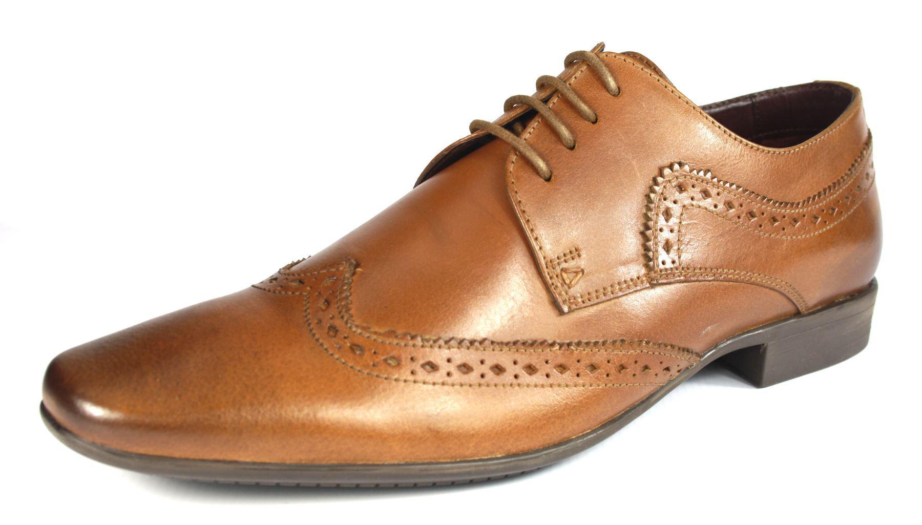 Détails sur Pod CERES Tan Lacets Formel Bout Pointu Richelieu à Cuir Homme Chaussures afficher le titre d'origine