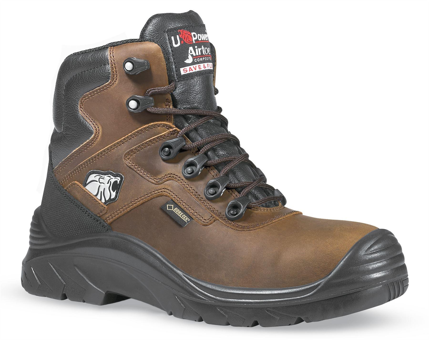 fba179a25c1 Botas de seguridad U-Power para hombre. Estas botas son totalmente cargadas  con un grano completo impermeable cuero superior, transpirable de Gore-Tex  y ...