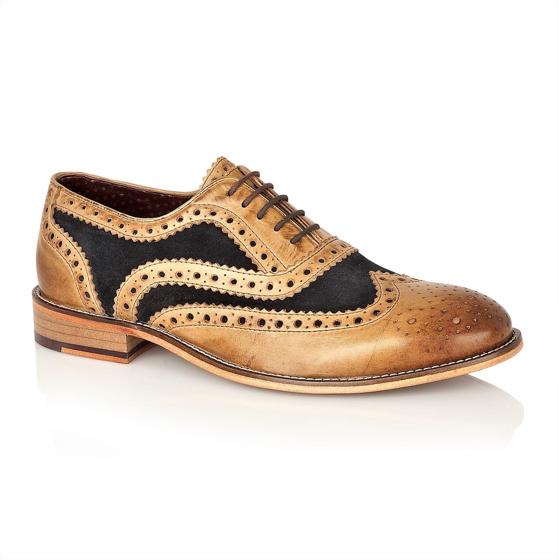 ad81315343c70b London Brogues Watson Ledersohle Herren Schnürschuhe Formal Schuhe ...