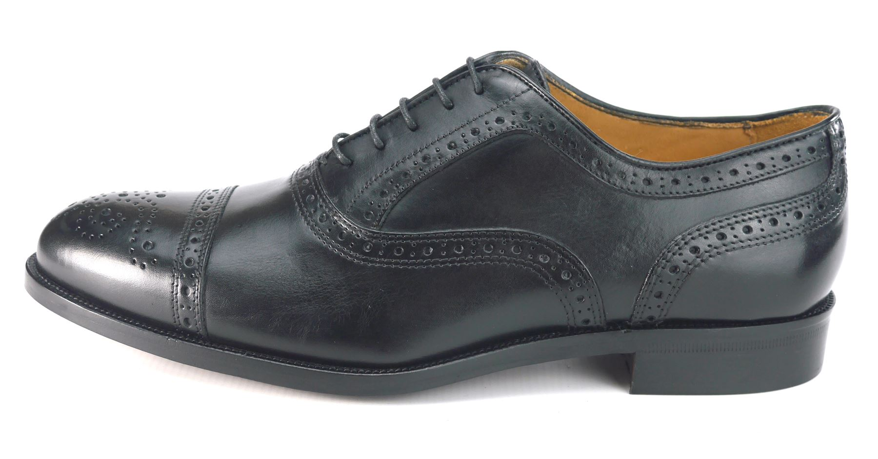 Mercanti Fiorentini Mens Lace Up All Leather Brogue Oxford Tan or ... d9b9a3fd534