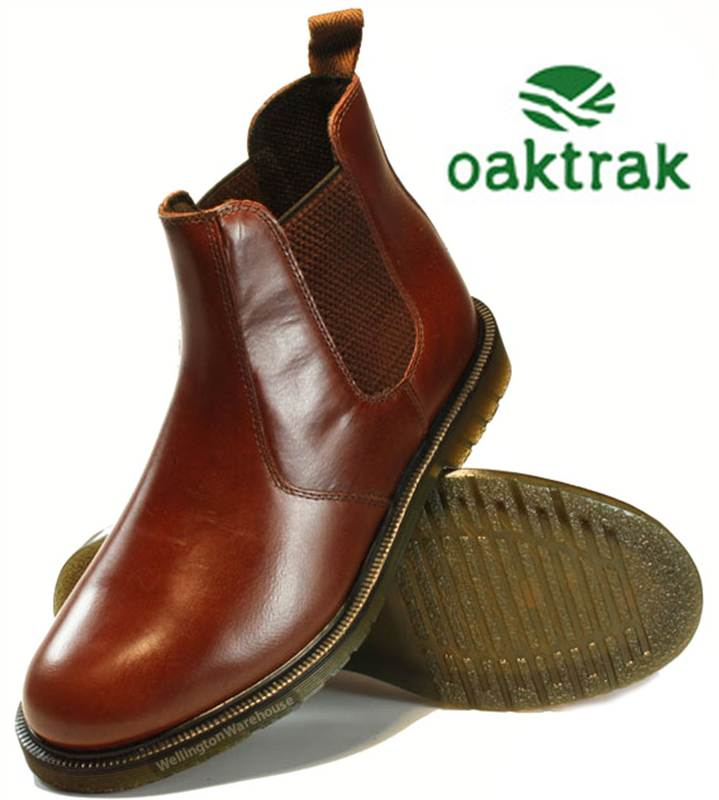 2eeb6b4926b Oaktrak Mens Real Leather Brogue Chelsea Pull On Dealer Boots Sizes 7 8 9  10 11