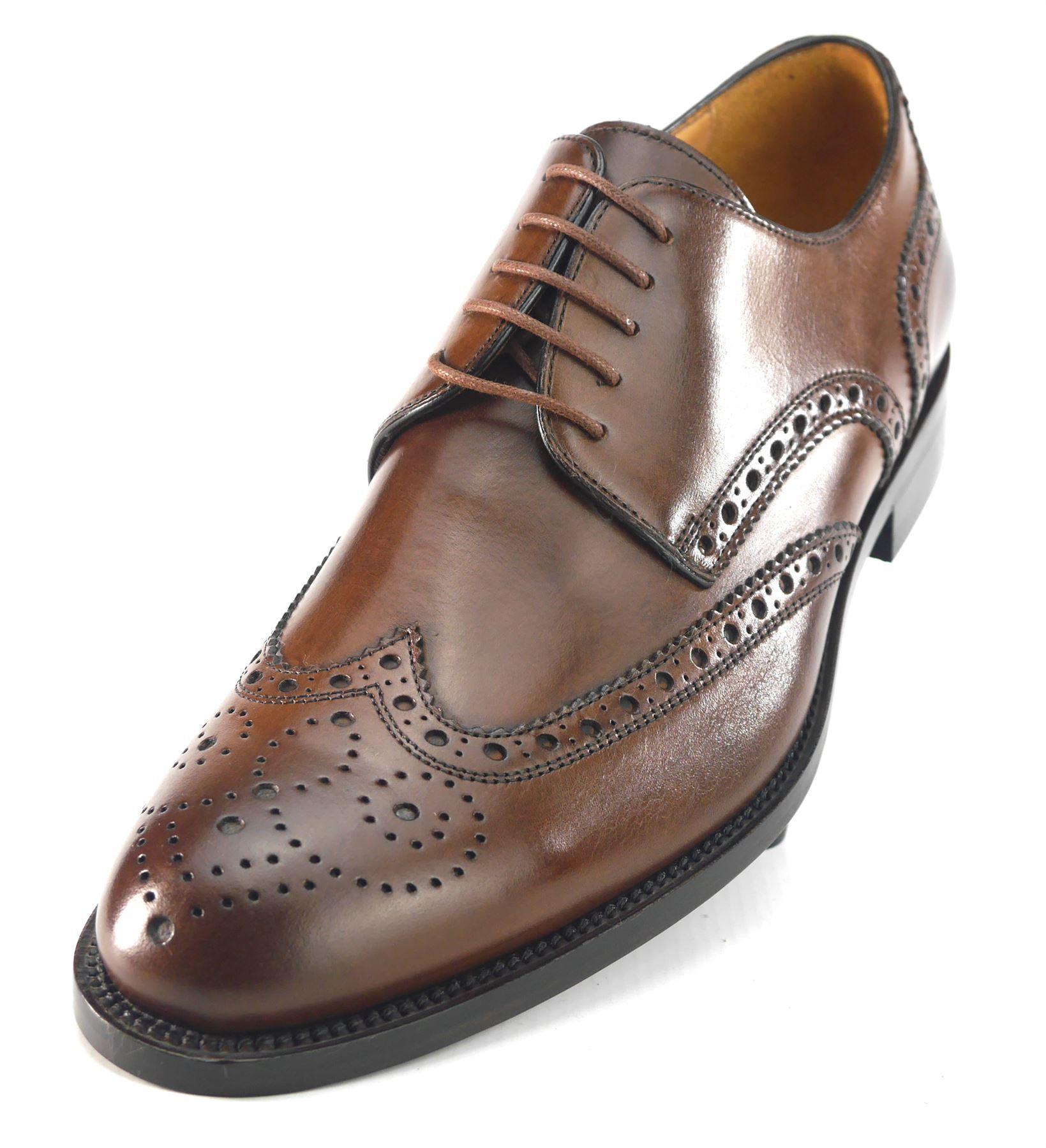 Mercanti Fiorentini  Kenia 5792 Braun Leder Wingtip  Fiorentini Uomo Brogue Brandy 63c552