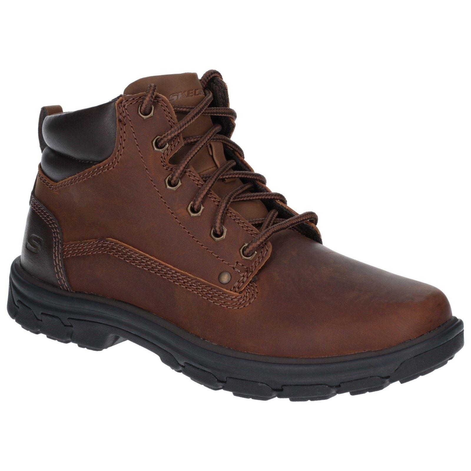 Details zu Skechers Segment Garnet Brown Mens Boots Leather