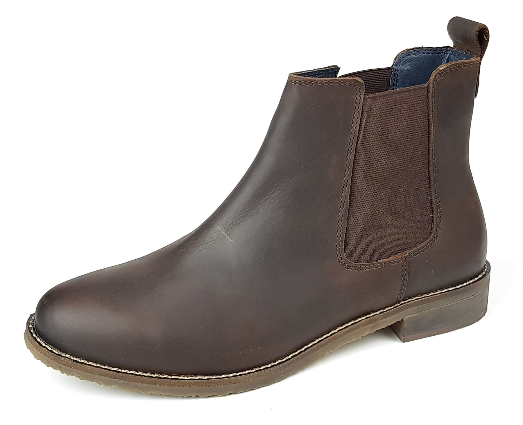 67024df84c390 Frank James Aintree Ladies Womans Tan Brown Leather Chelsea Pull On Boots.  These real leather chelsea boots feature a leather upper, cushioned insole,  ...