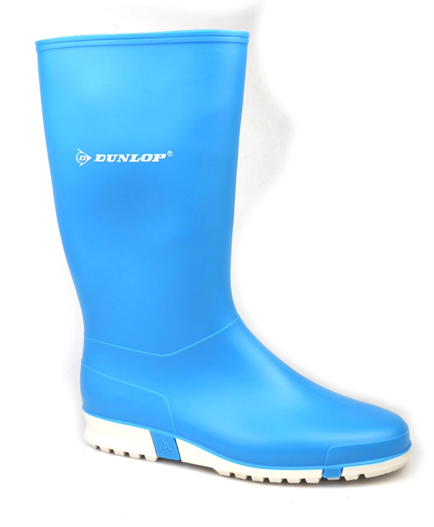 Détails sur Dunlop Sport Femmes Bottes en Caoutchouc Imperméable Bleu
