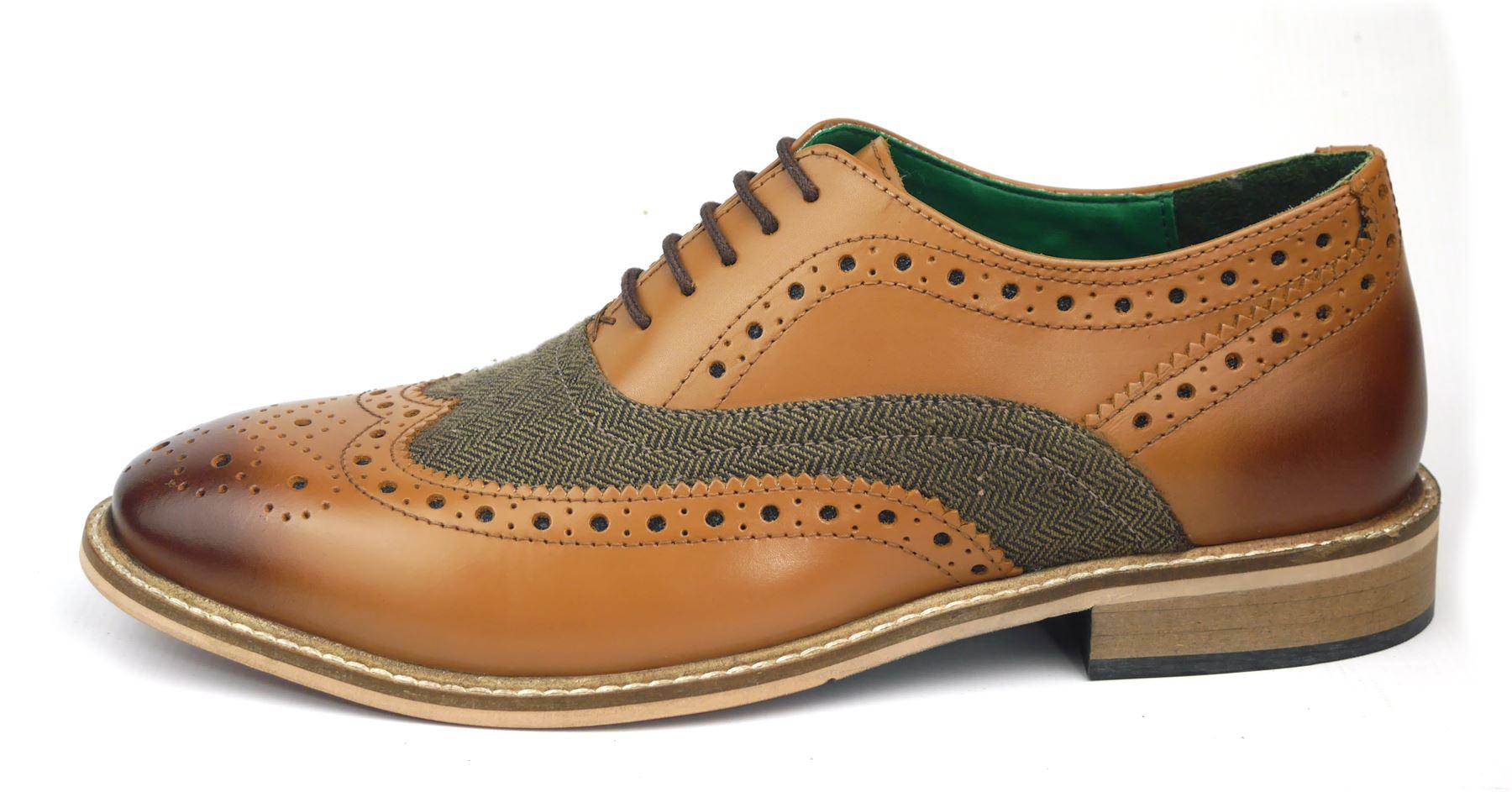 Frank james Parker Chaussures Richelieu 1920 Habillé à Lacets Homme Cuir Fauve //
