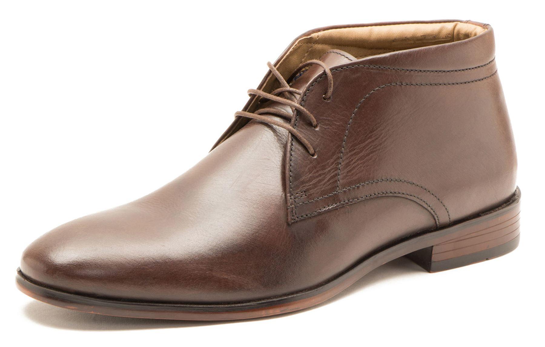Chaussures À Lacets De Haut Tracasseries Administratives 100% Cuir Pour Les Hommes, Brun, Taille 47