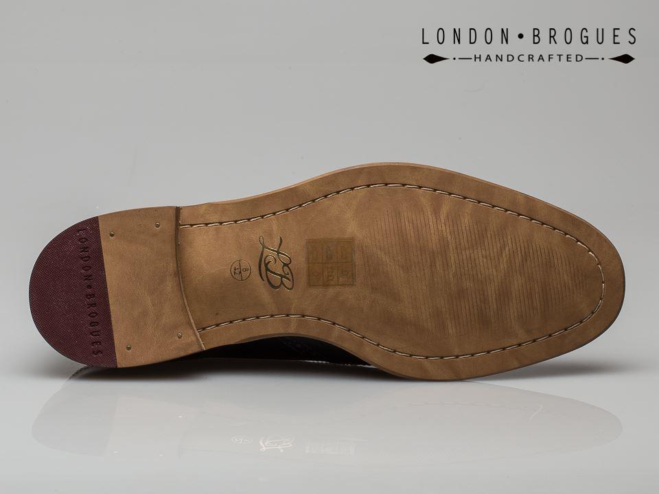 London Chaussures GATSBY pour homme en cuir marron clair à Lacets Bout D/'Aile Formel Classique Chaussure Marron