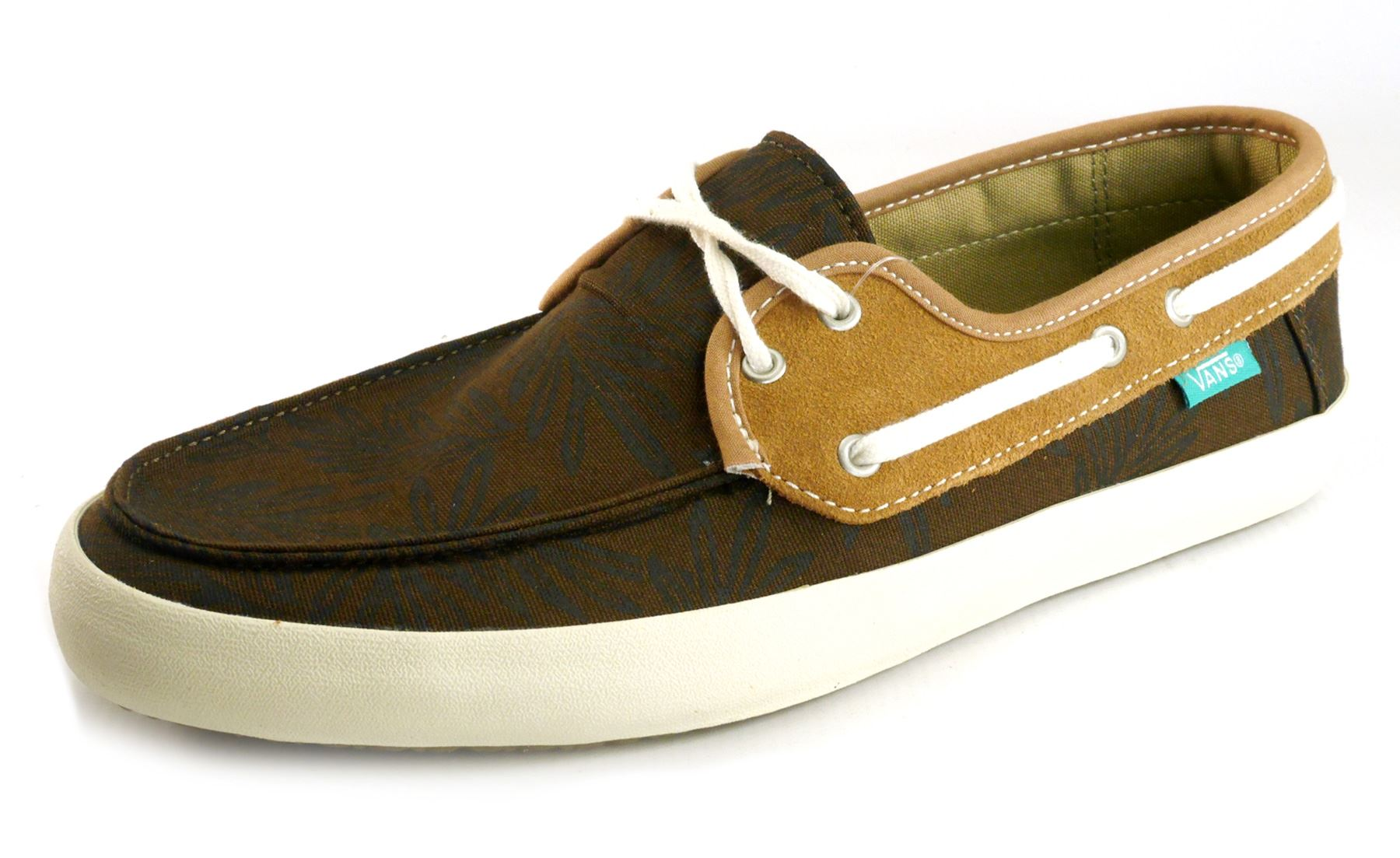 vans boat shoes brown