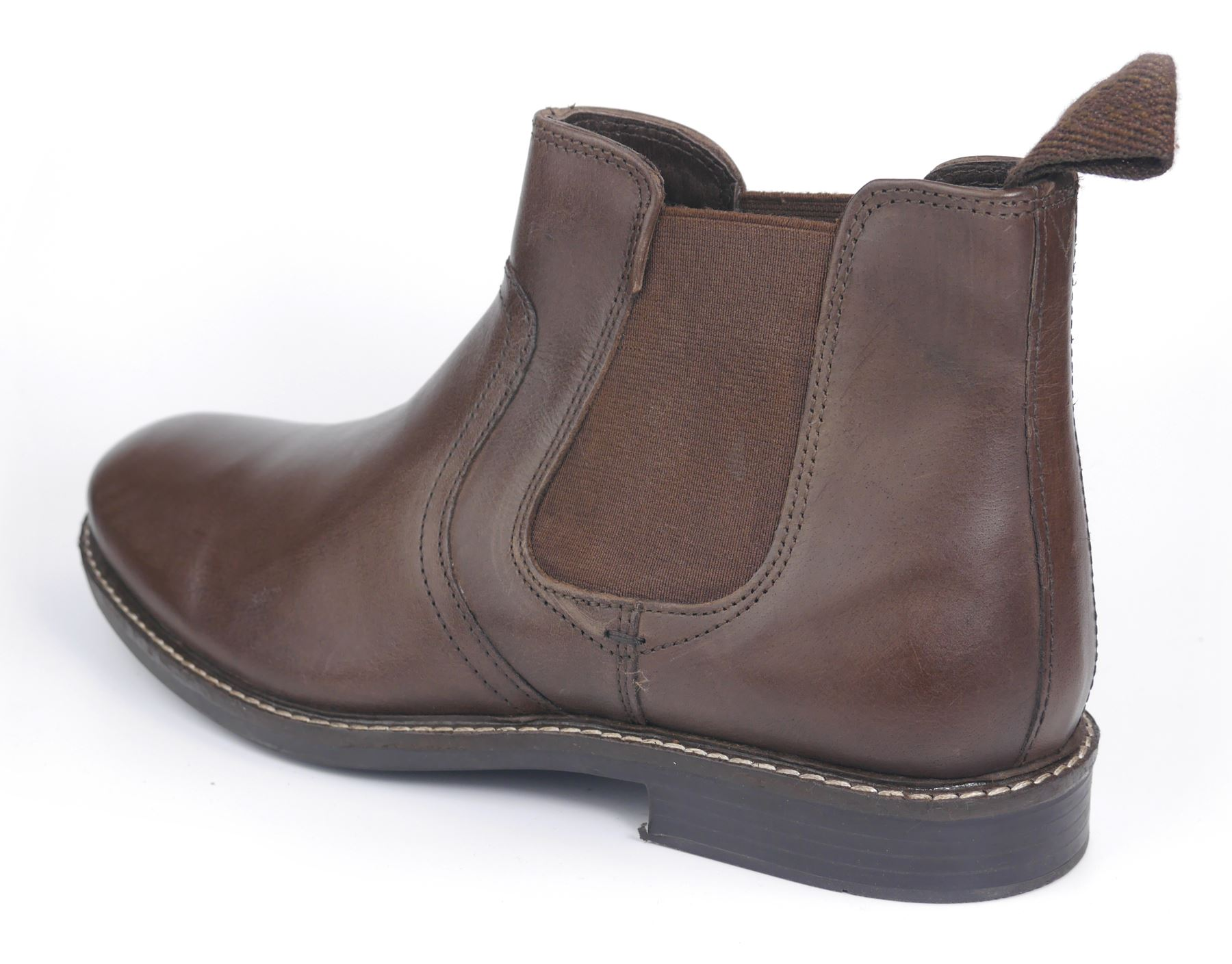 Red Tape Mens Newton Leather round Toe Ankle chelsea pull on Brown boots