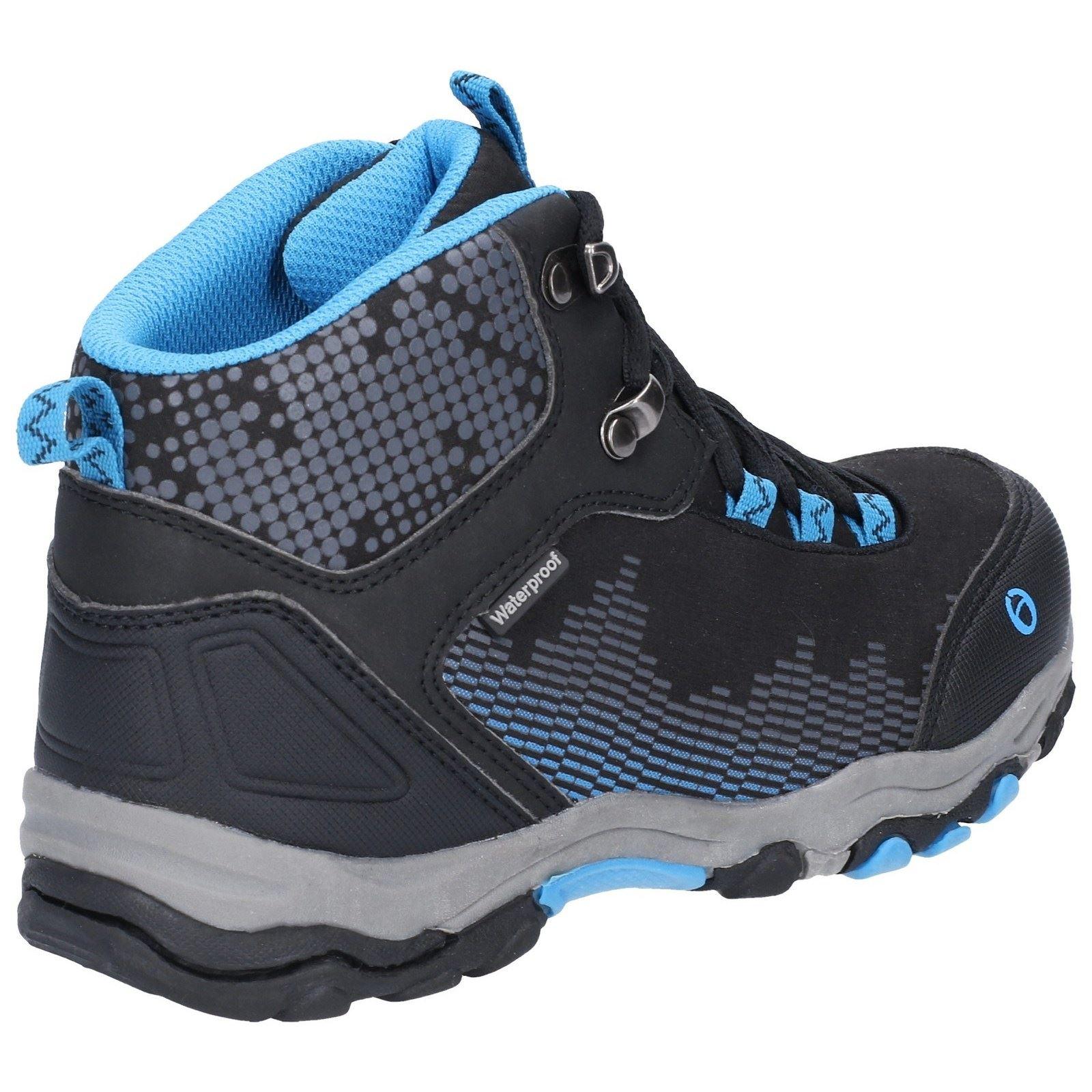 500d2be0e34 Details about Cotswold Ducklington Lace Black/Blue Childrens Hiking Boots  Textile+Synthetic