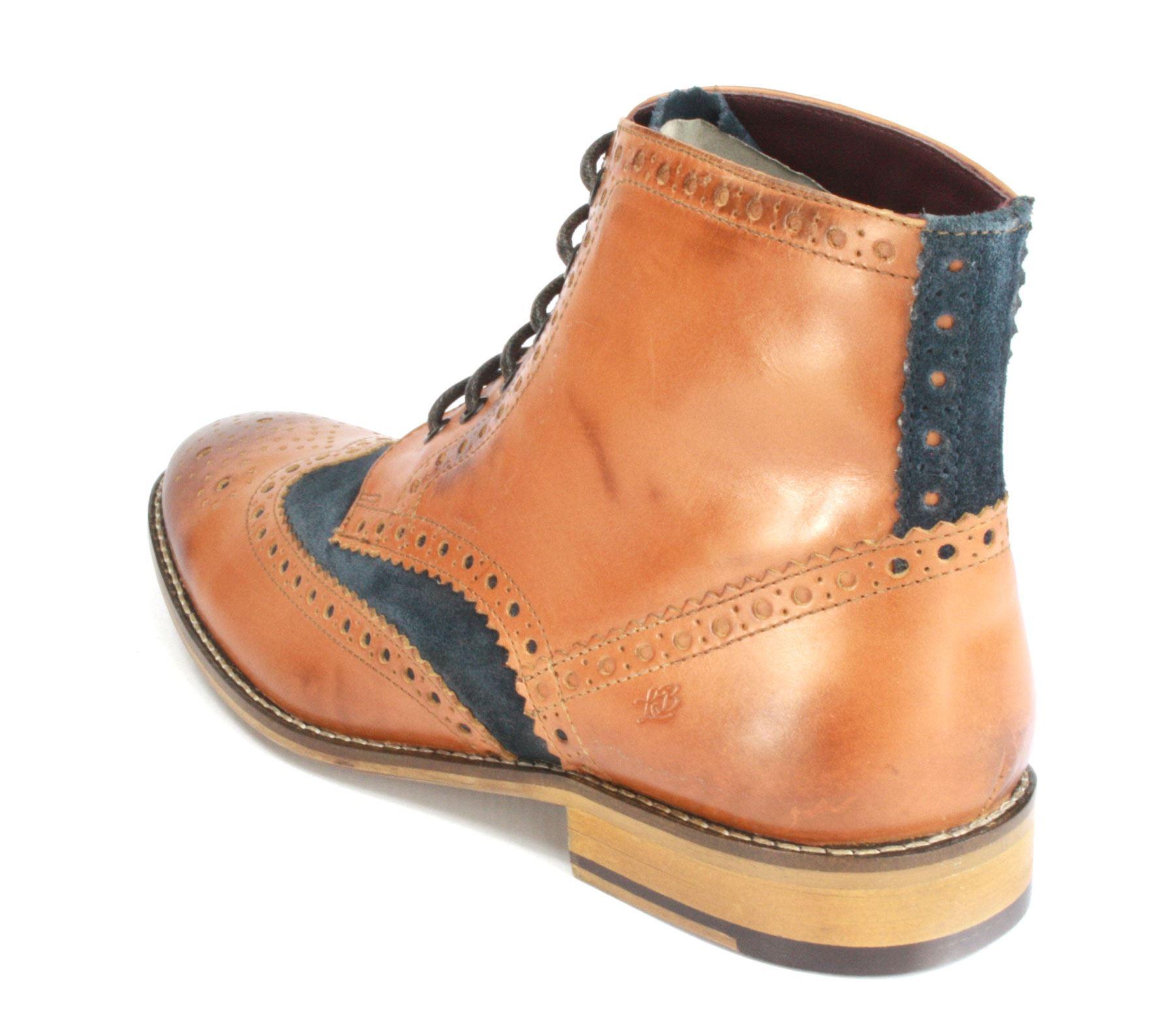 London Brogues  Uomo Leder Lace Up Wingtip Stiefel Formal GATSBY Hi Brogue Stiefel Wingtip 97dbb8