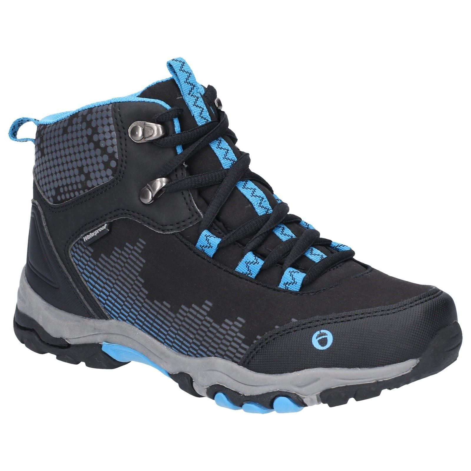 388c2b29b68 Details about Cotswold Childrens Hiking boots Ducklington Lace Up  Waterproof boots Black Blue