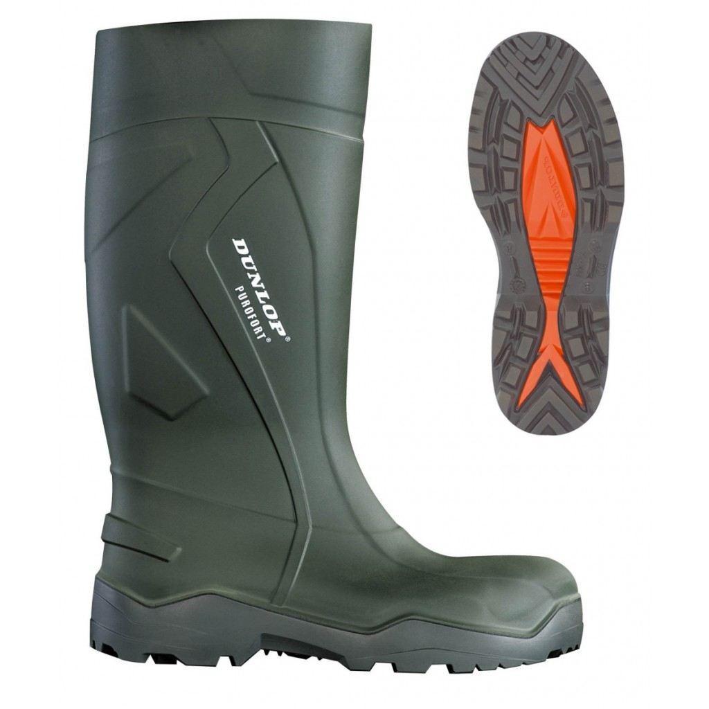 Dunlop Purofort+ Safety C762933 Green Wellington Boots Warm PU