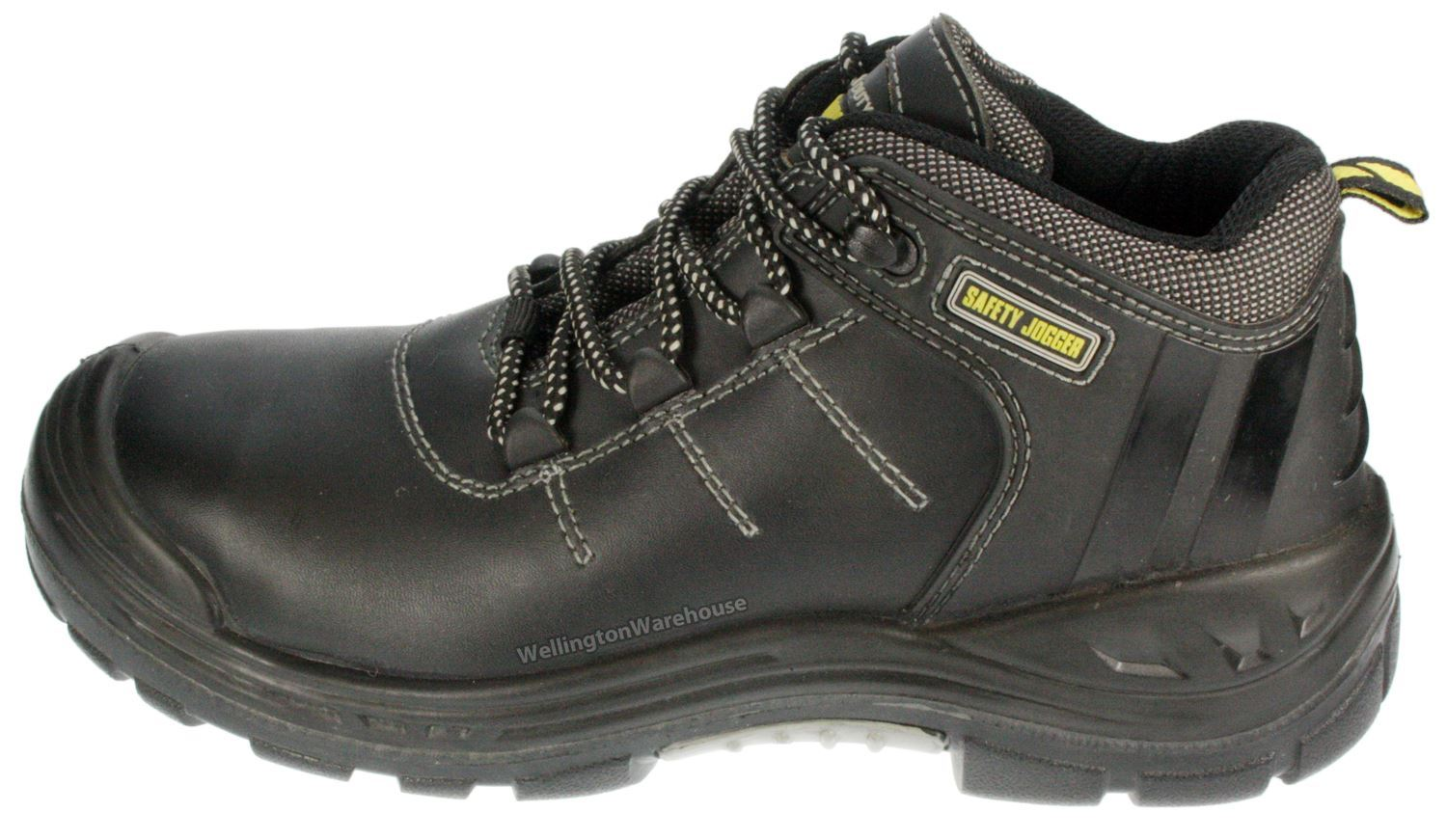 Safety Jogger Premium S3 Composite Toecap Leather Lace Up Mens Work Boots