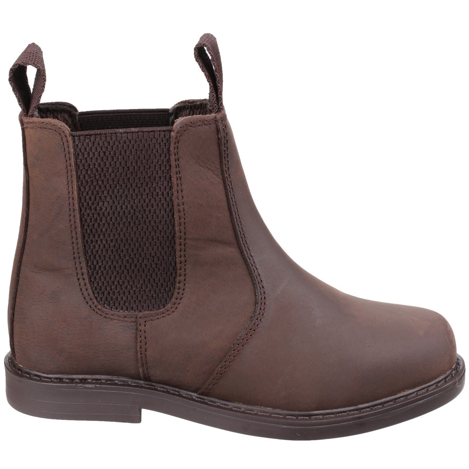 Amblers Childrens Boots Camberwell Pull On Dealer Boot Brown Non Safety