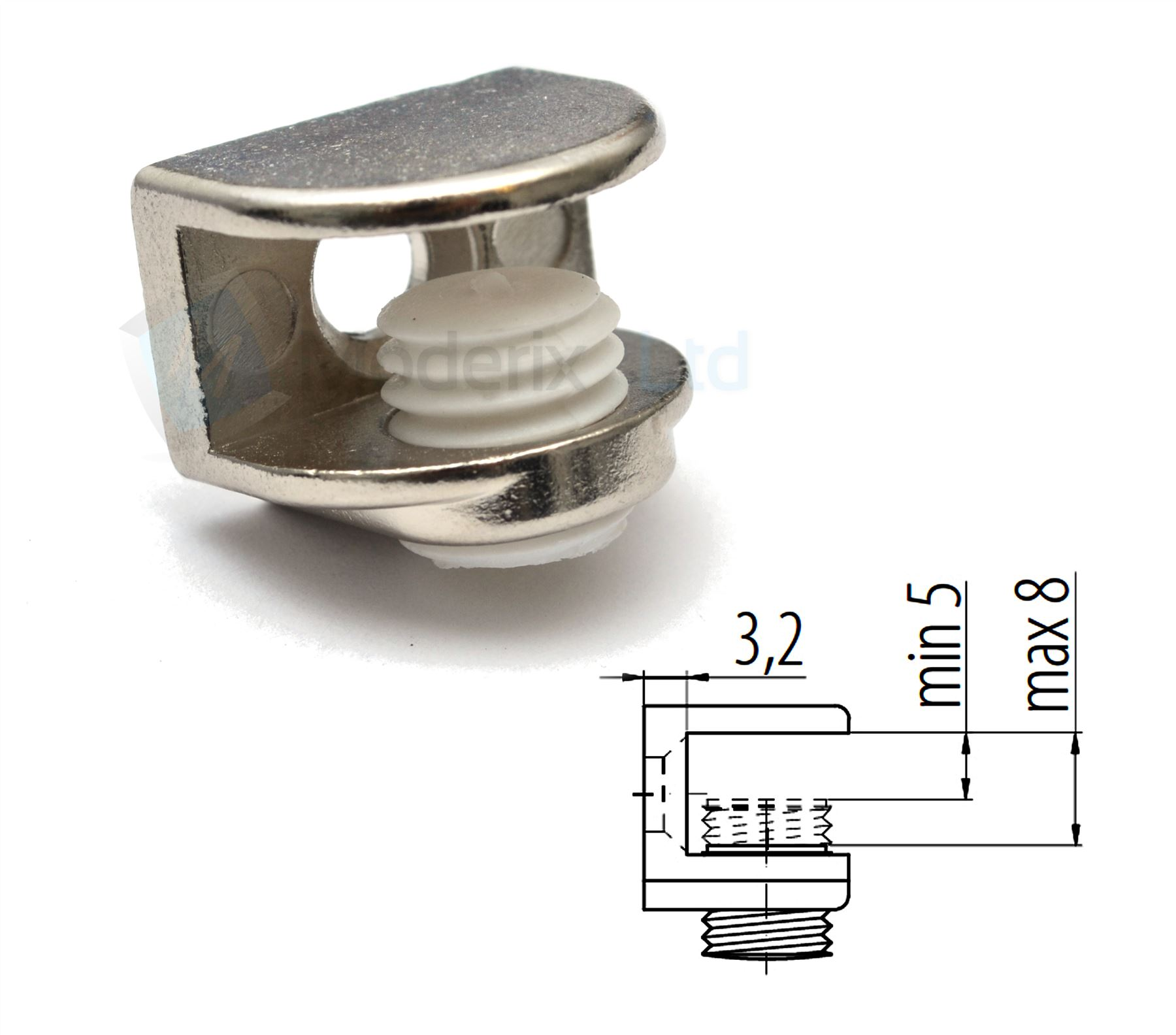 shelf bracket glass shelf support 5 8mm 3 16 5 16. Black Bedroom Furniture Sets. Home Design Ideas