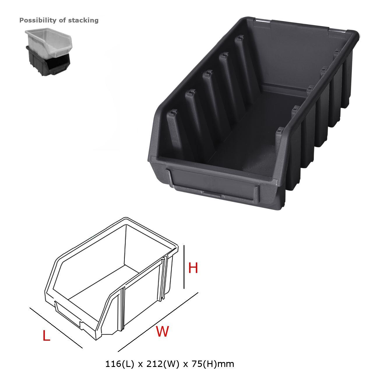 ergo bleu noir rouge bac de rangement bacs en plastique toutes les tailles ebay. Black Bedroom Furniture Sets. Home Design Ideas