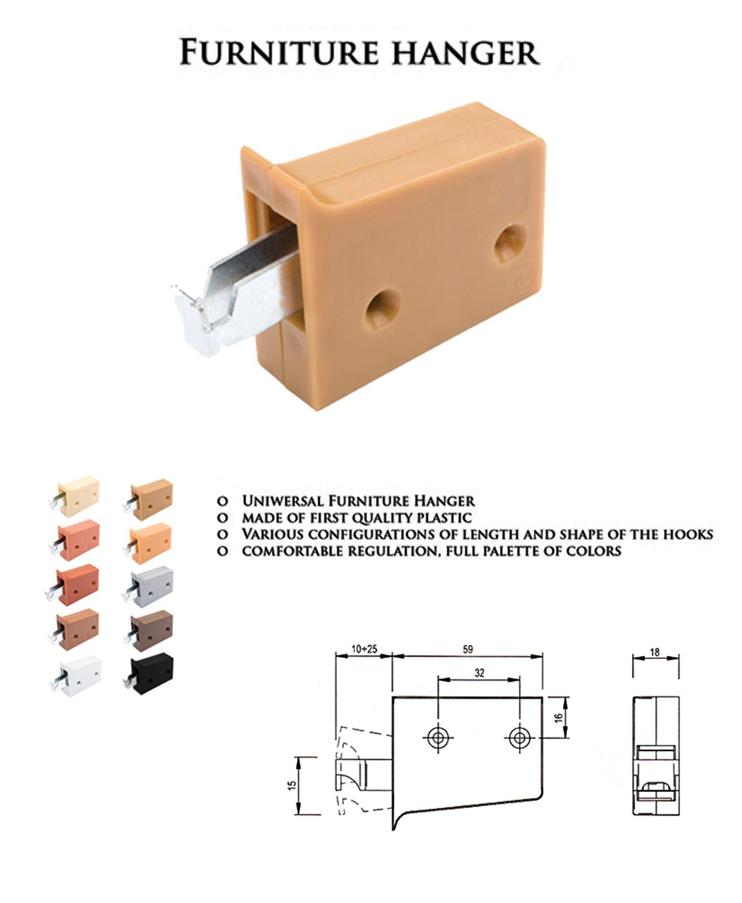 Attrayant UNIVERSAL WALL HANGING BRACKETS FOR KITCHEN CABINETS