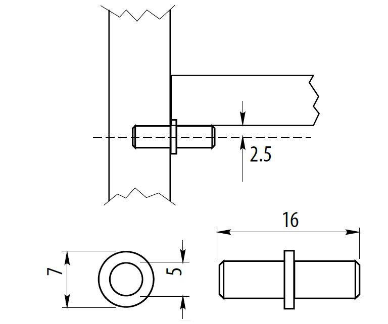 Packs 4-1000 Glass Support Pins Studs Metal Peg Shelf Pins
