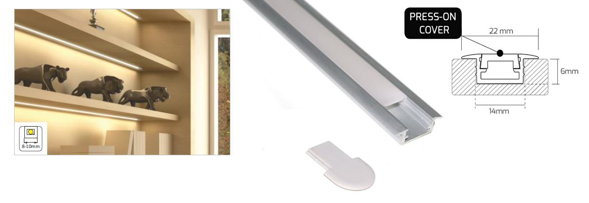 Details about 5 x 1m Aluminium Profiles with 5m LED Strip Kit and  Accessories
