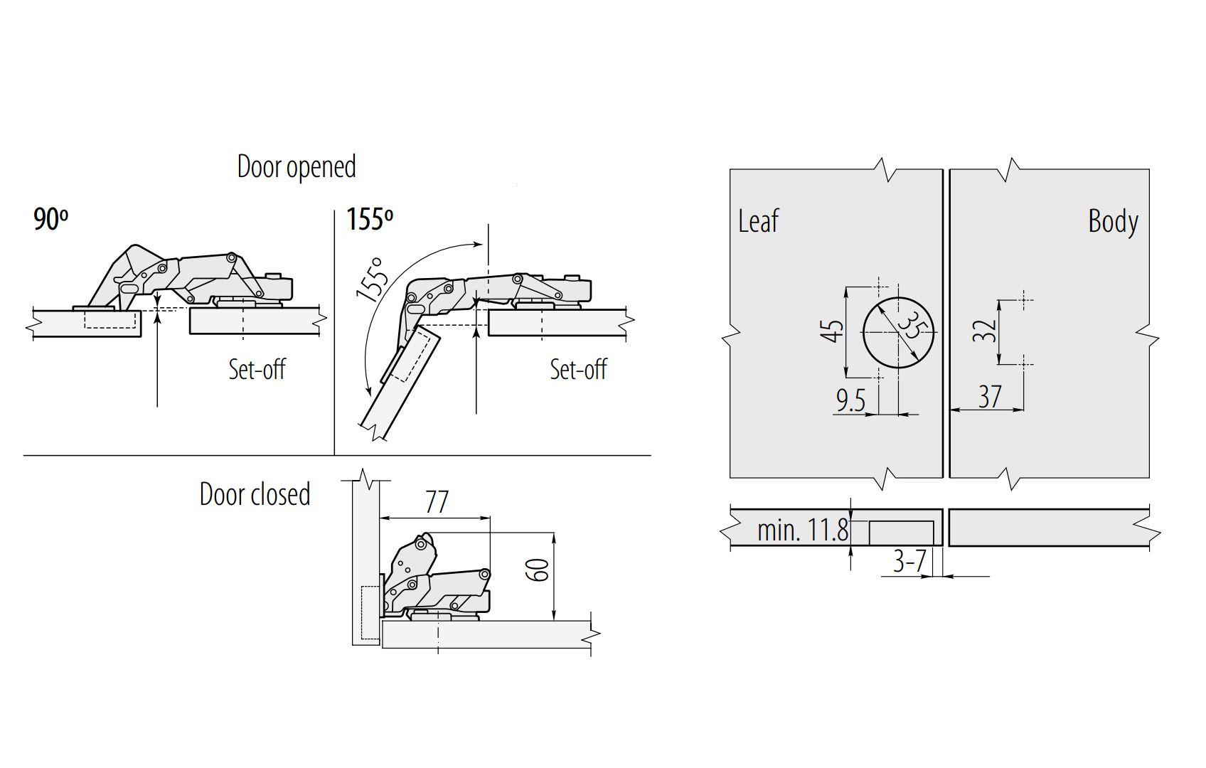 Soft close kitchen cabinet cupboard wardrobe door hinges - Soft closers for kitchen cabinets ...
