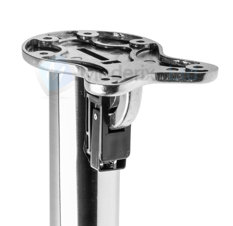 4x Pieds De Table Pliant 710mm 50mm Brosse Chrome Pour
