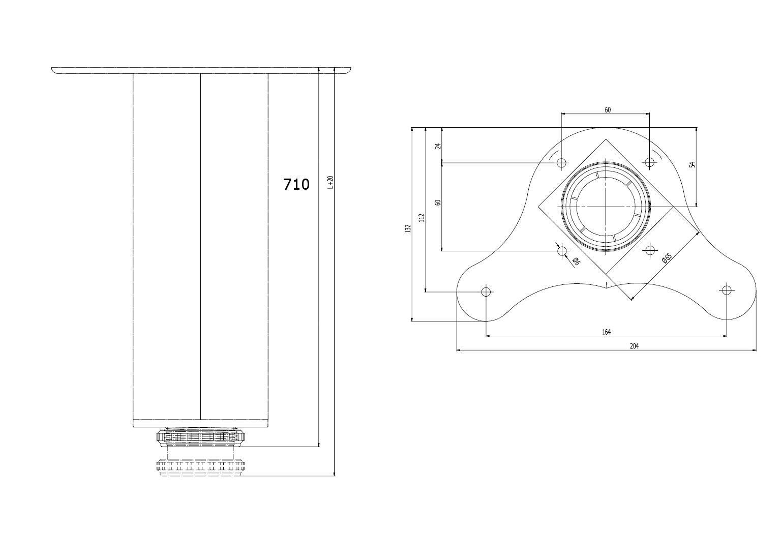 4x 710mm adjustable folding kitchen worktop desk breakfast bar table leg ebay. Black Bedroom Furniture Sets. Home Design Ideas