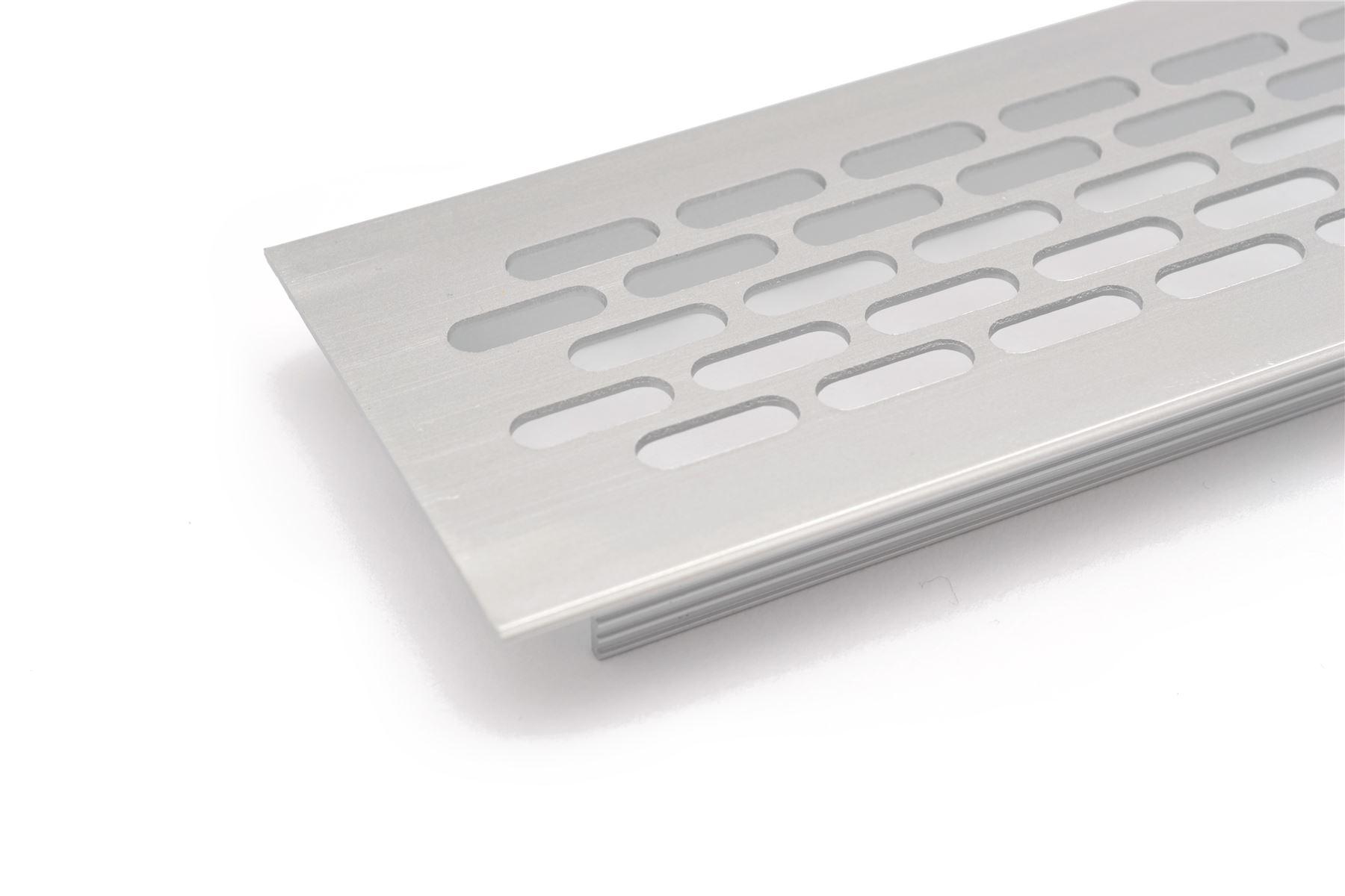Plan De Travail Chrome détails sur chrome brossé, blanc plinthe cuisine grille ventilation plan de  travail chaleur