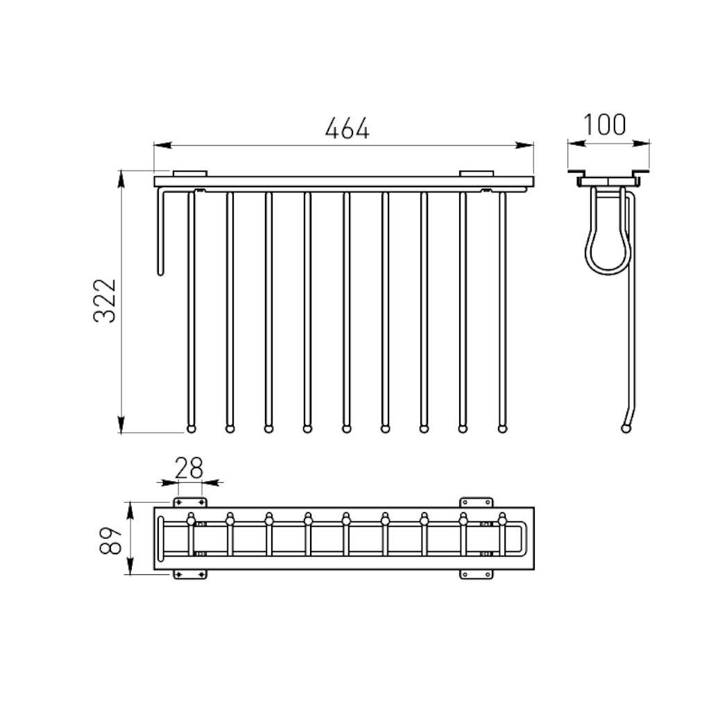 Details About Chrome Retractable Wardrobe Rail Clothes Hanger Towel Coat Racks Closet Rod