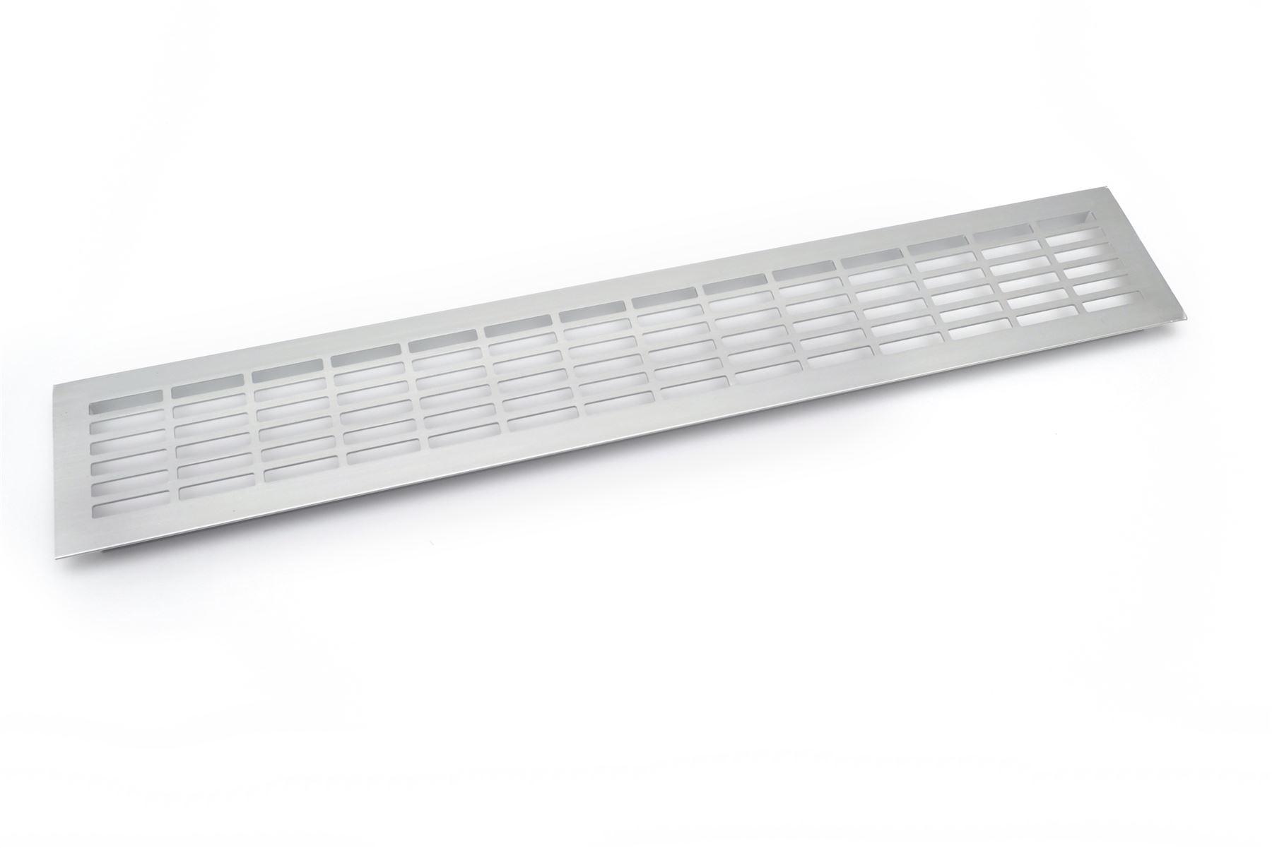 aluminium white brushed chrome vent grill kitchen plinth. Black Bedroom Furniture Sets. Home Design Ideas