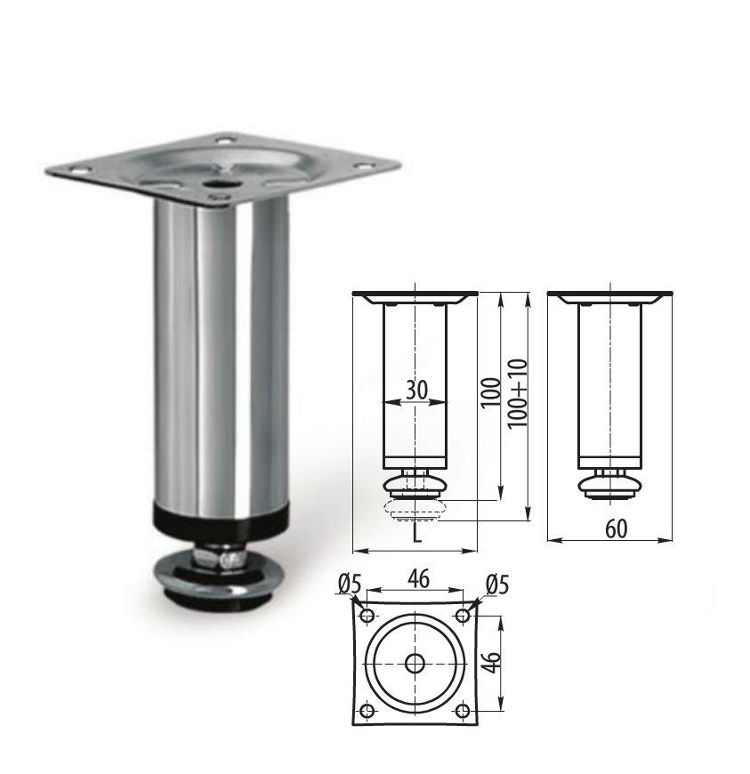 Chrome Steel Legs For Furniture Cabinet Furniture Sofa