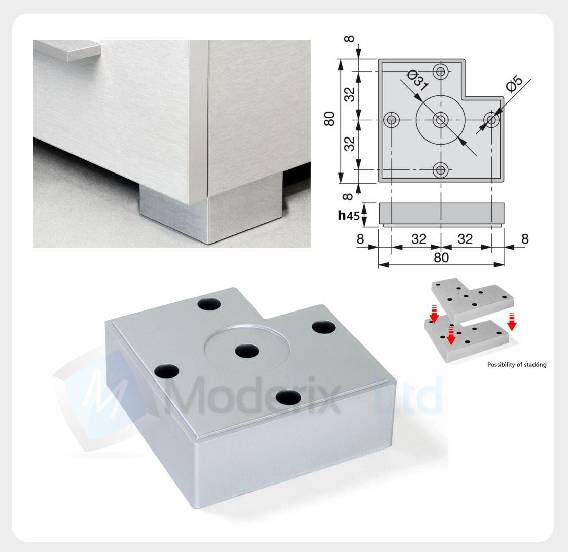 Plastico soporte muebles pies sof patas de mesa 12 120mm - Muebles de plastico ...