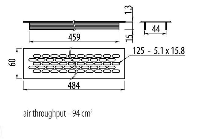 Chrome bross blanc plinthe cuisine grille ventilation - Plan de travail cuisine resistant chaleur ...
