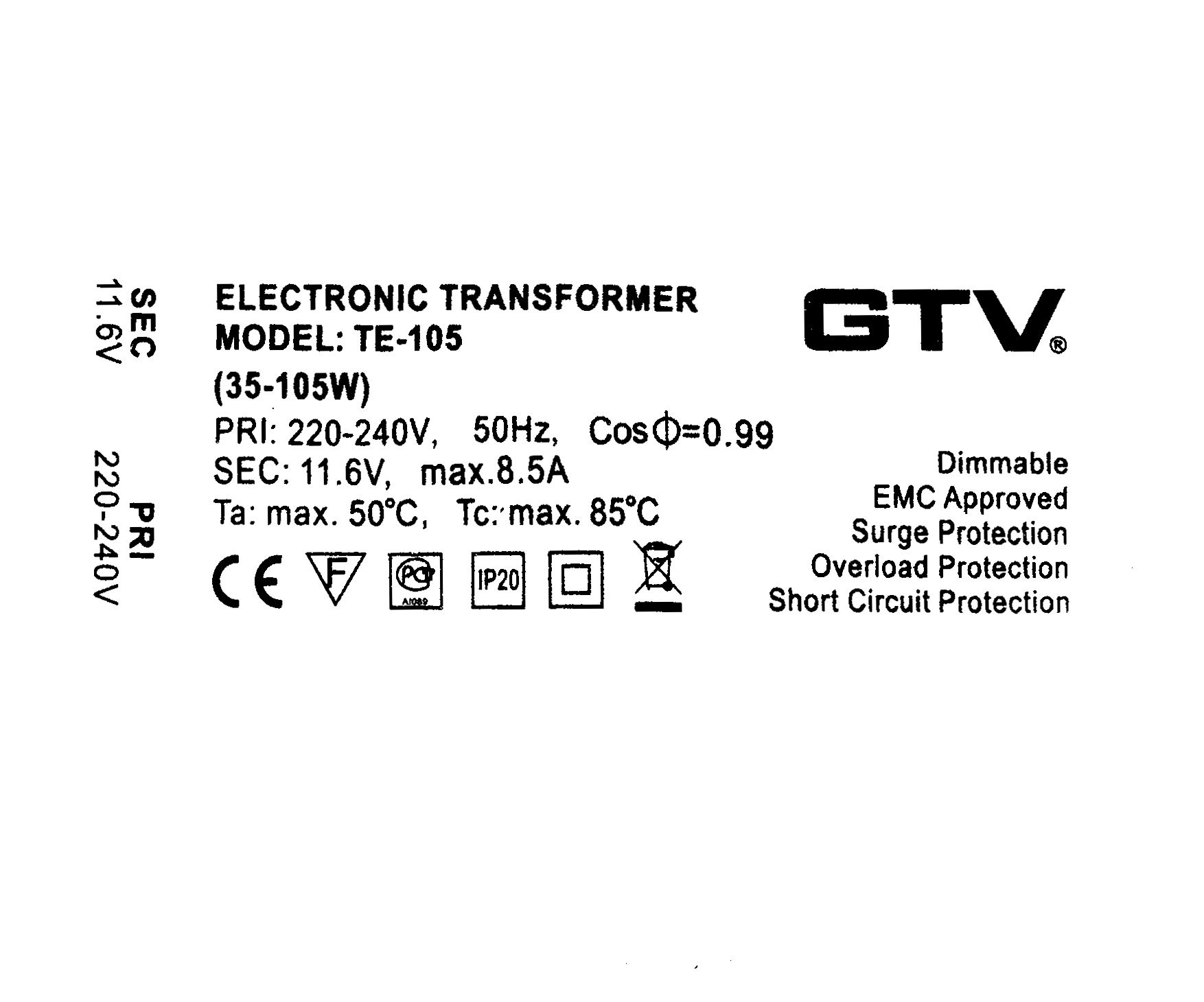 Electronic-Transformer-Dimmable-240V-12V-35-105W
