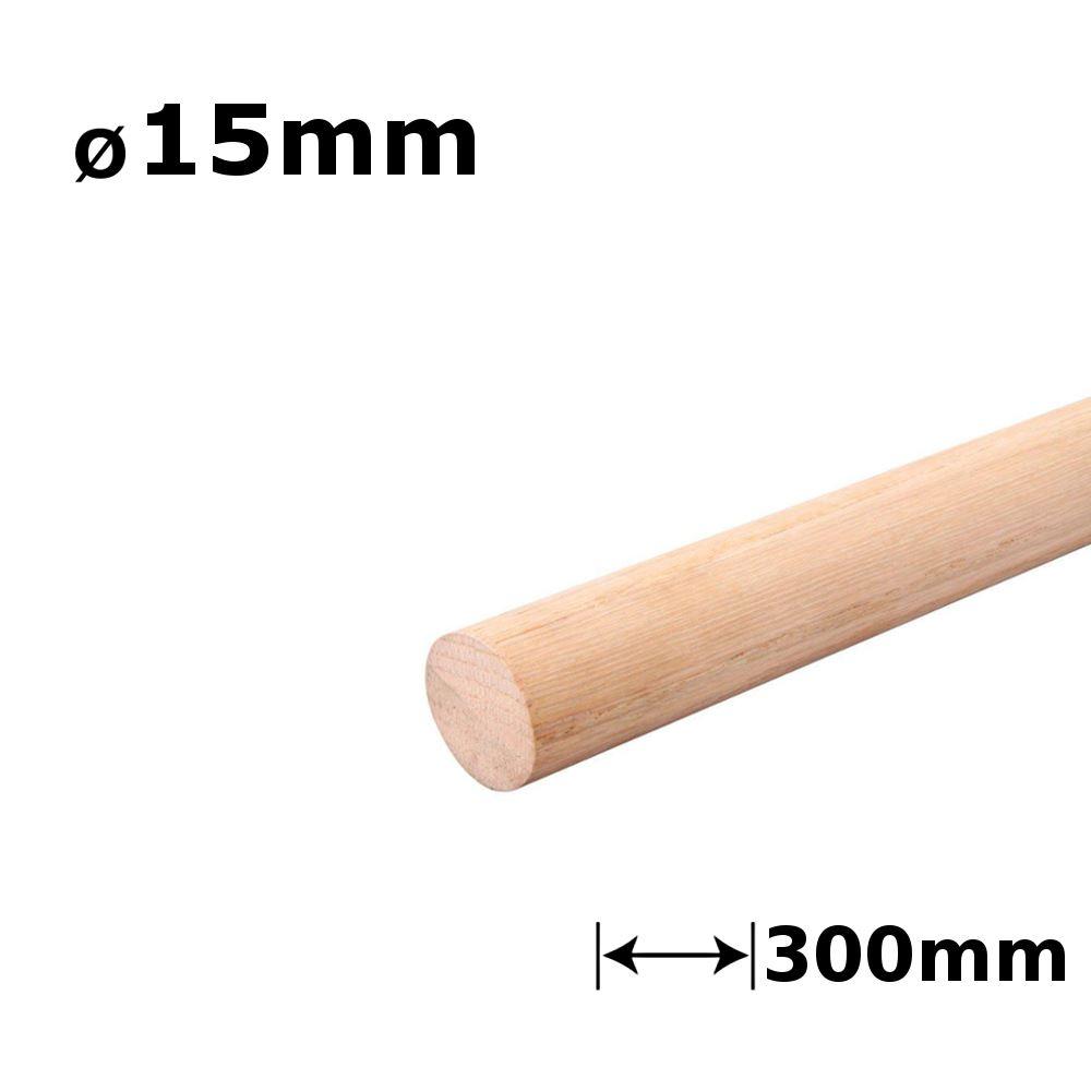 buche oder eiche holzd bel glatt 30cm l nge 4 55mm ebay. Black Bedroom Furniture Sets. Home Design Ideas