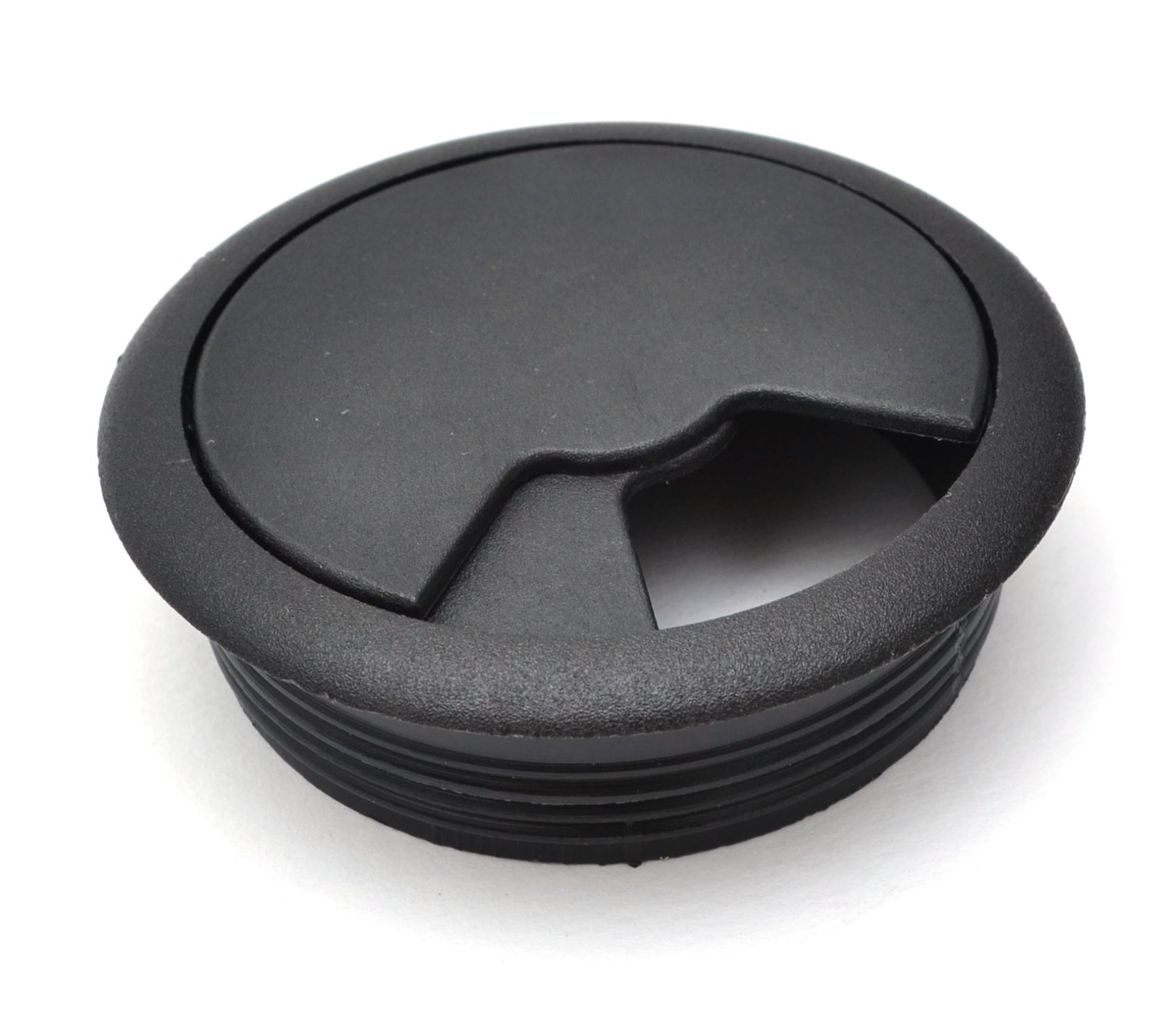 60mm-pc-computer-Scrivania-da-PLASTICA-PASSACAVO-tabella-cavo-ordinato-wire-Hole-copertura miniatura 9