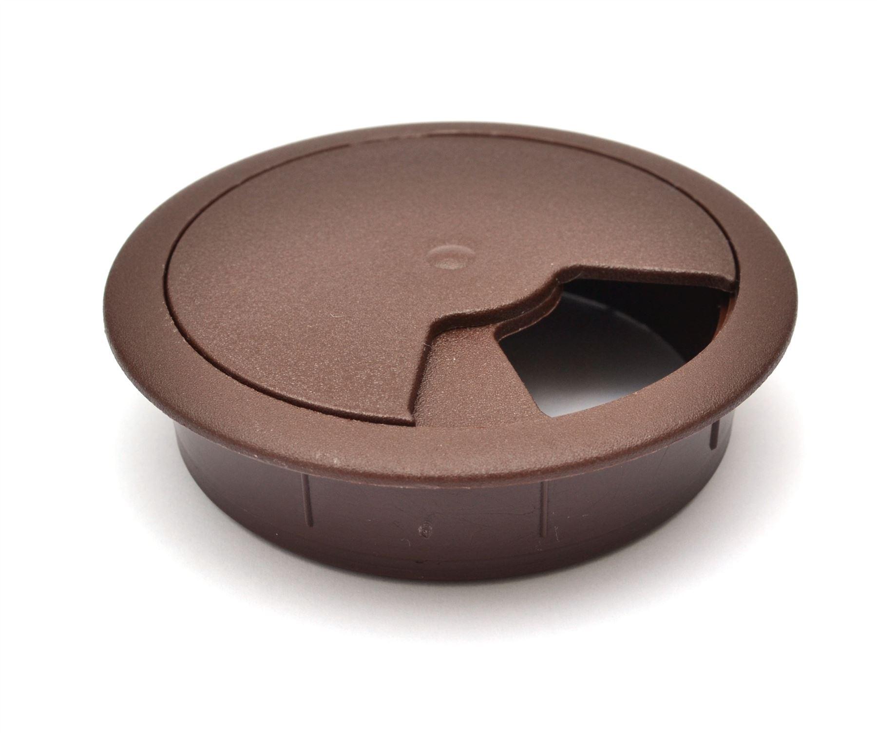 60mm-pc-computer-Scrivania-da-PLASTICA-PASSACAVO-tabella-cavo-ordinato-wire-Hole-copertura miniatura 25