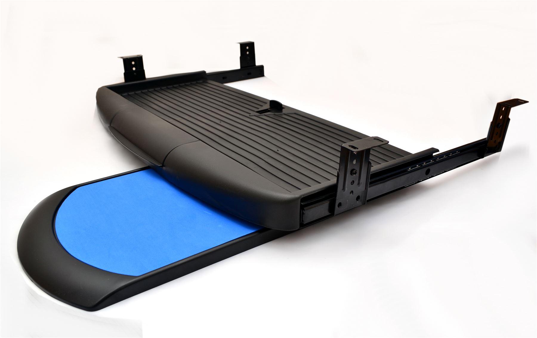 kit de clavier tiroir rails coulissant tiroirs tiroir montage noir ou gris ebay. Black Bedroom Furniture Sets. Home Design Ideas