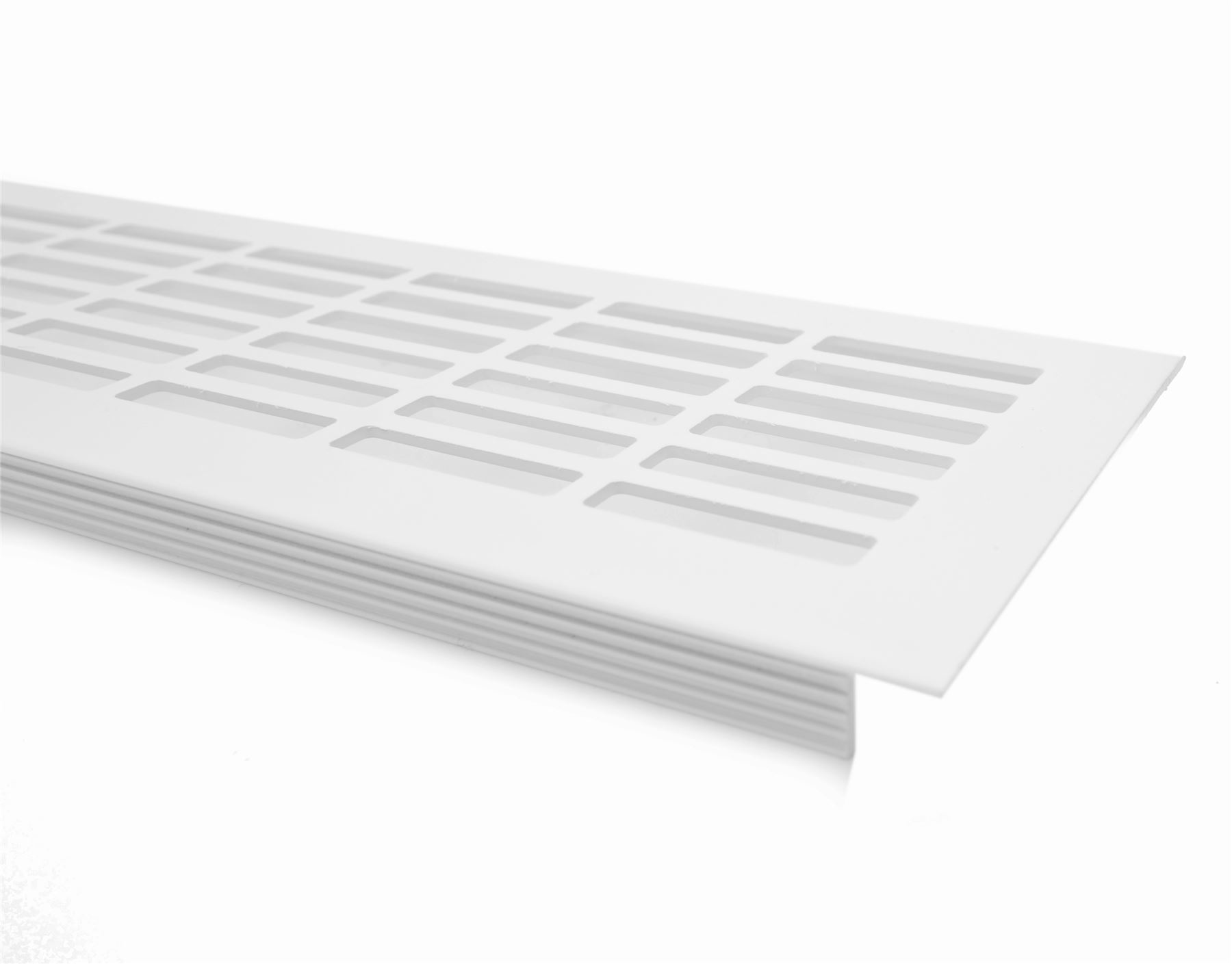 Aluminium white brushed chrome vent grill kitchen plinth for Kitchen units without plinths