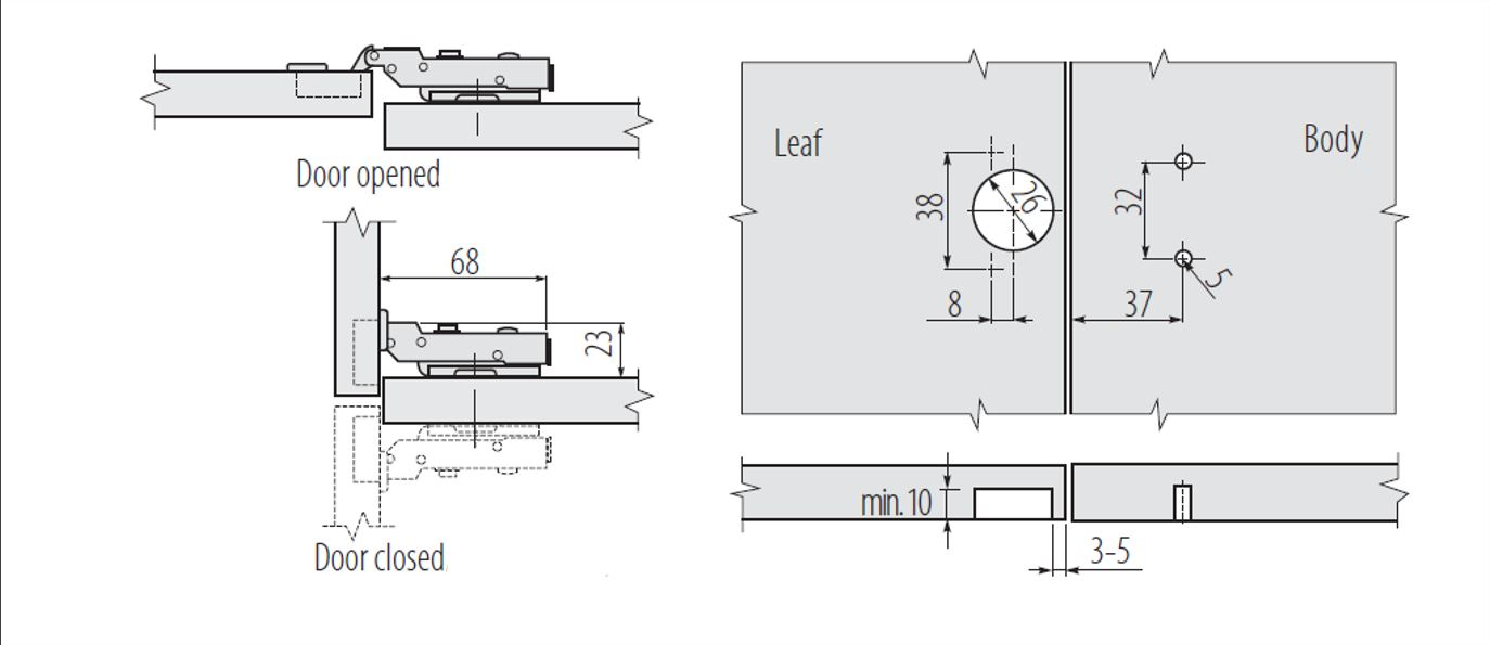closed door drawing. SOFT-CLOSE-KITCHEN-CABINET-CUPBOARD-WARDROBE-DOOR-HINGES- Closed Door Drawing R
