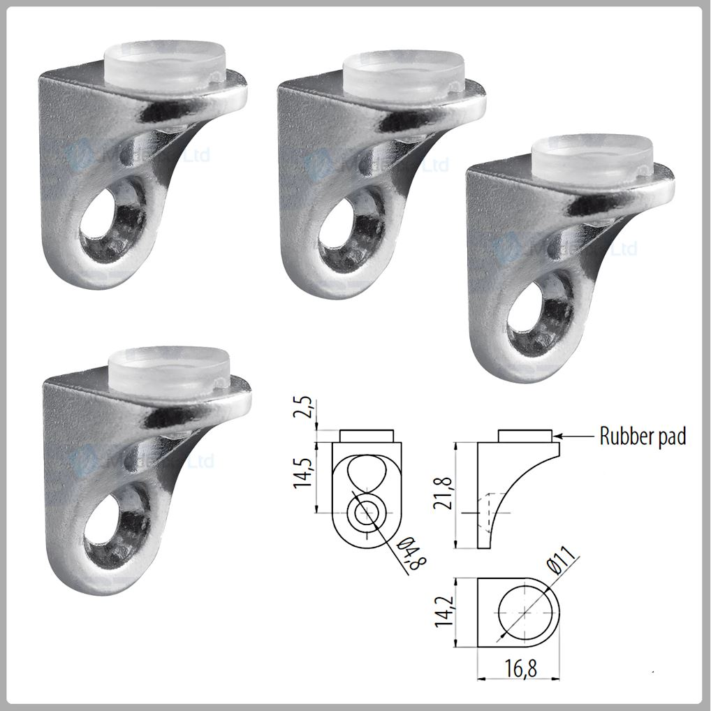 Small Shelf Brackets Glass Shelf Supports With Pin Without