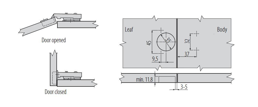 Gtv Soft Close 35mm Kitchen Cabinet Door Hinge Plate Screws Ebay