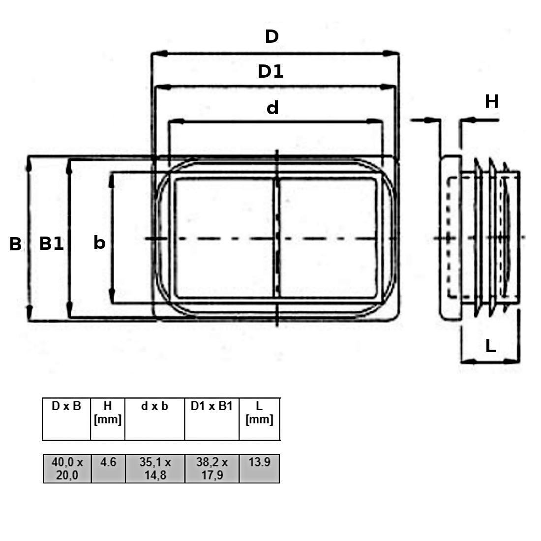 60x60mm Black Plastic End Cap for Profile Rod Insert Plug Pack of 4