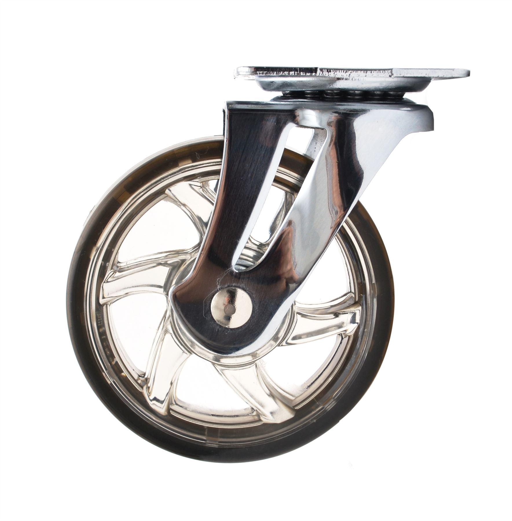 roulettes pivotantes 30mm 75mm en plastique caoutchouc roues pour meubles ebay
